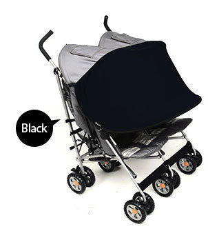 Sun Shade for Twin Stroller (Black)