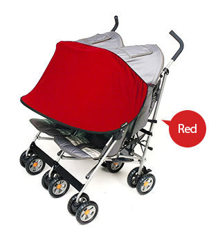 Sun Shade for Twin Stroller (Red)