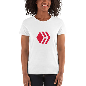 Hive Women's short sleeve white t-shirt