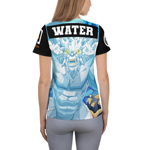 Splinterlands: Water Team Unleashed All-Over Print Women's Athletic T-shirt