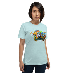 Splinterlands Logo (+ Characters) Short-Sleeve Unisex T-Shirt