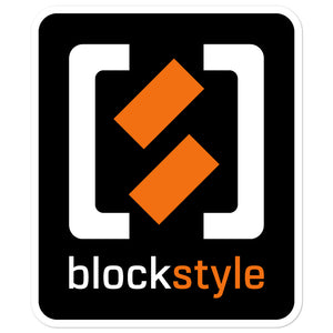 Blockstyle Dark Bubble-free sticker