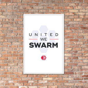 United We Swarm Light Framed poster
