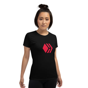 Hive Women's short sleeve black t-shirt