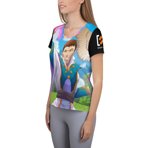 Splinterlands: Life Team Unleashed All-Over Print Women's Athletic T-shirt