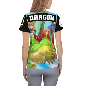 Splinterlands: Dragon Team Unleashed All-Over Print Women's Athletic T-shirt