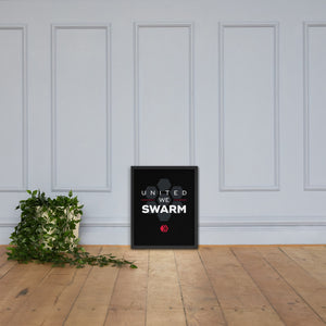 United We Swarm Dark Framed poster