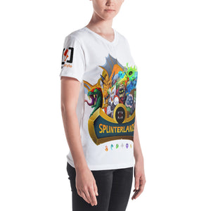Splinterlands Logo (+characters) Women's V-neck