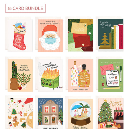 Holiday Card Bundle - 18 Cards