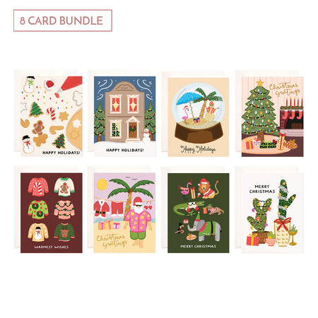 Holiday Card Bundle - 8 Cards