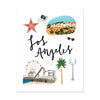 City Art Prints - Los Angeles - Bloomwolf Studio Print About What to Do in Los Angeles, Neutral and Bright Colors, City Landmarks + Historical Places + Notable Places