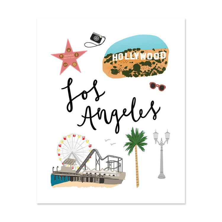 City Art Prints - Los Angeles - Bloomwolf Studio