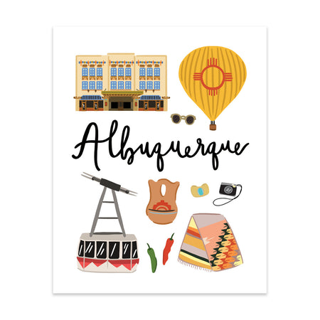 Albuquerque, NM Art Print - Bloomwolf Studio
