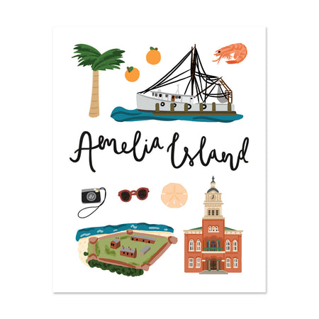 City Art Prints - Amelia Island
