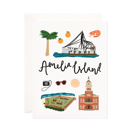 Amelia Island - Bloomwolf Studio Print About Things to Do in Amelia Island, Bright Colors, State Landmarks + Historical Places + Notable Places
