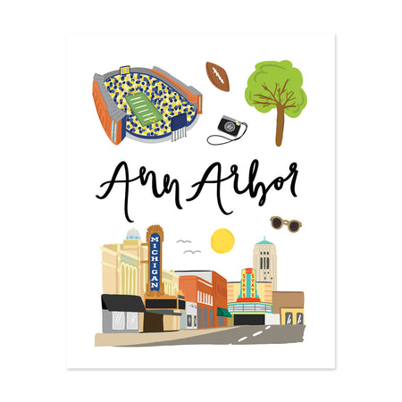 City Art Prints - Ann Arbor - Bloomwolf Studio