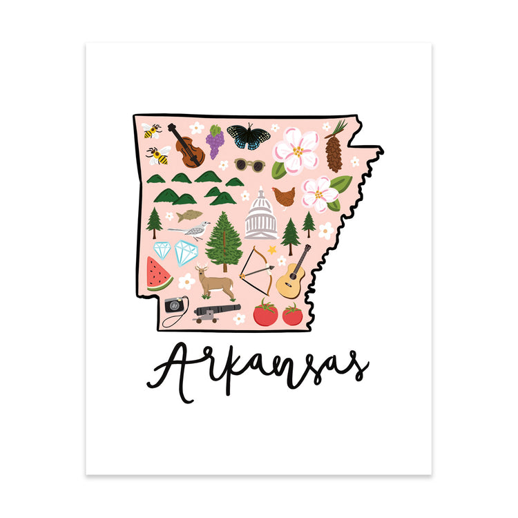State Art Prints - Arkansas