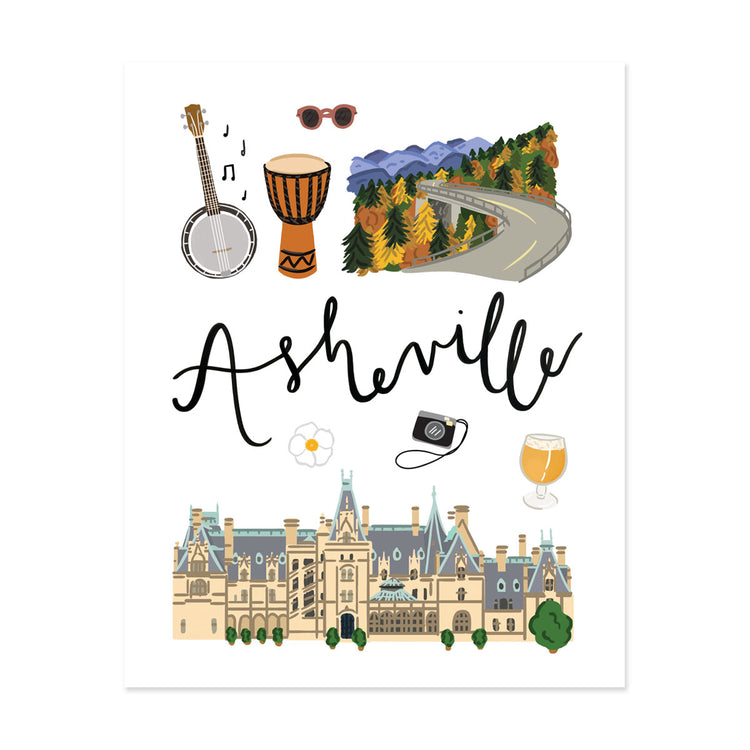 City Art Prints - Asheville - Bloomwolf Studio