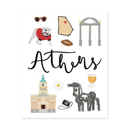 City Art Prints - Athens - Bloomwolf Studio