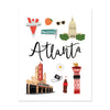 Atlanta, Ga Art Print - Bloomwolf Studio  Print About Things to Do in Atlanta, Bright Colors, State Landmarks + Historical Places + Notable Places