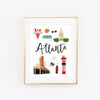 Atlanta, GA Art Print - Bloomwolf Studio