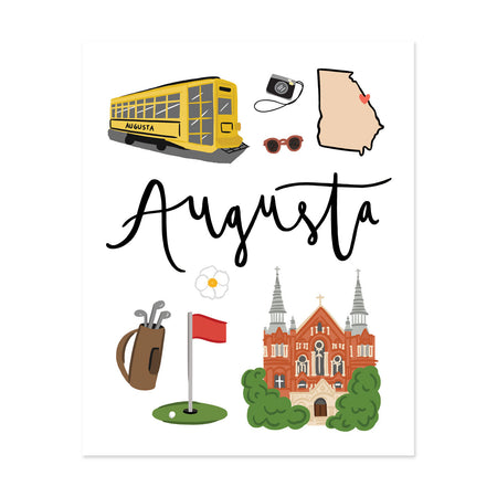 City Art Prints - Augusta