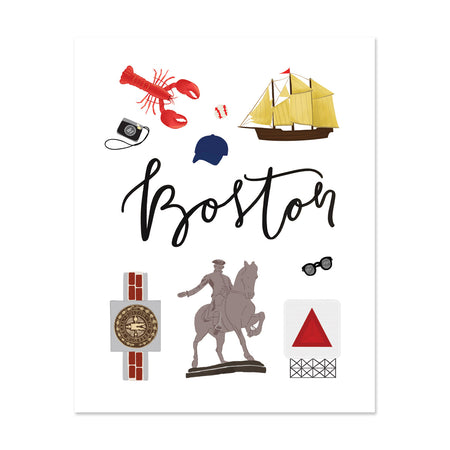 City Art Prints - Boston