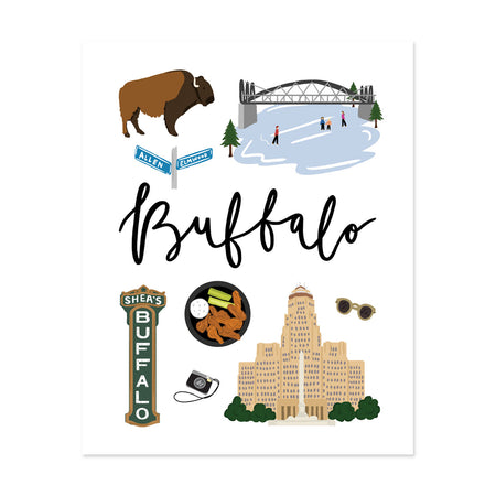 City Art Prints - Buffalo - Bloomwolf Studio About Things to Do in Buffalo, Bright Colors, State Landmarks + Historical Places + Notable Places