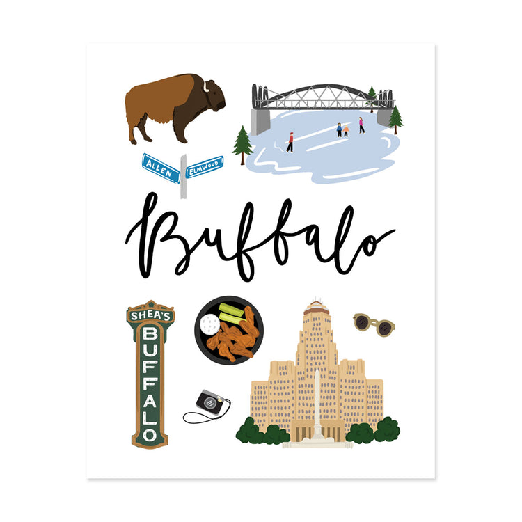 City Art Prints - Buffalo - Bloomwolf Studio