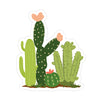 Cactus Field Sticker - Bloomwolf Studio Sticker of 4 Green Cacti