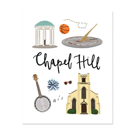 City Art Prints - Chapel Hill