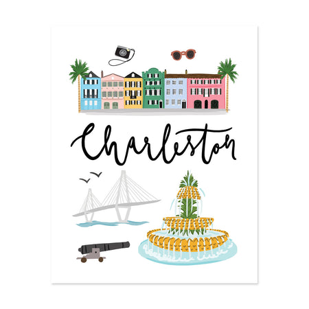 City Art Prints - Charleston - Bloomwolf Studio About Things to Do in Charleston, Bright Colors, State Landmarks + Historical Places + Notable Places