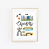 City Art Prints - Charlotte - Bloomwolf Studio