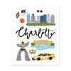City Art Prints - Charlotte - Bloomwolf Studio Print of Charlotte, Things to Do, Bright Colors, State Landmarks + Historical Places + Notable Places