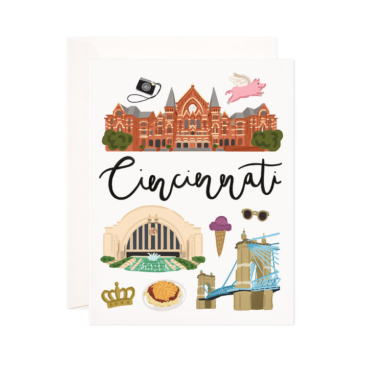 Cincinnati - Bloomwolf Studio Print About Cincinnati, Things to Do, Bright Colors, State Landmarks + Historical Places + Notable Places