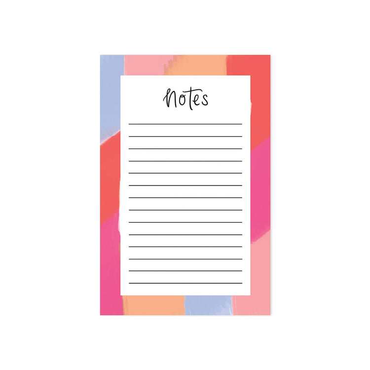 Colorful Brushstrokes Notepad - Bloomwolf Studio