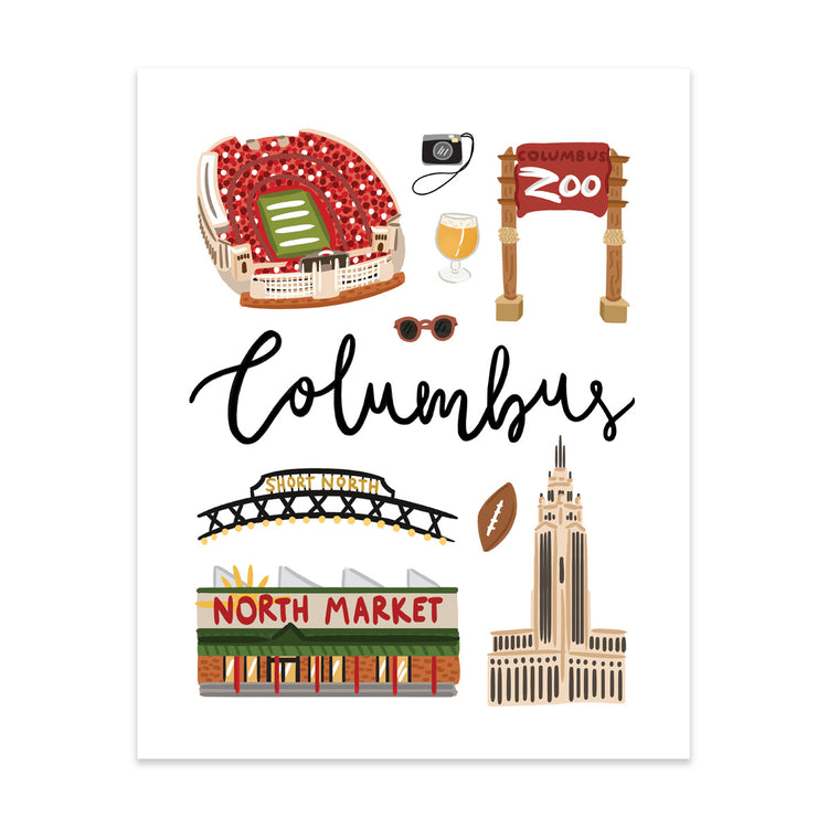 City Art Prints - Columbus
