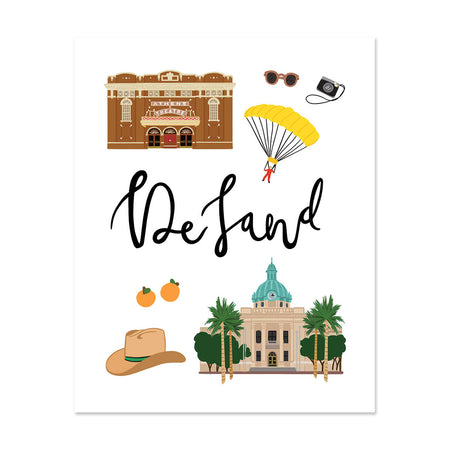 City Art Prints - DeLand
