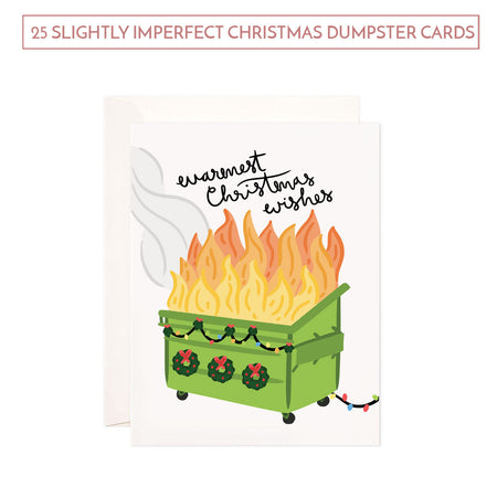 SALE: Bundle of 25 Slightly Imperfect Christmas Dumpster Cards