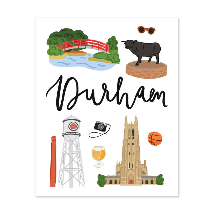 City Art Prints - Durham - Bloomwolf Studio