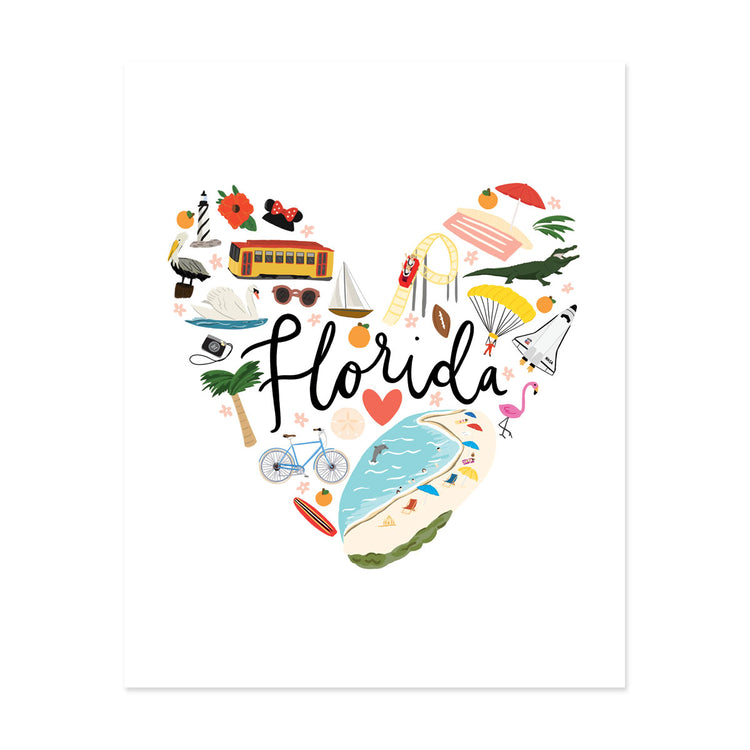 State Art Prints - Florida Love - Bloomwolf Studio