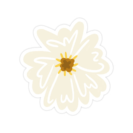 Flower Sticker - Bloomwolf Studio Flower Sticker in a Very Light Yellow Color, Petals