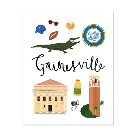 City Art Prints - Gainesville
