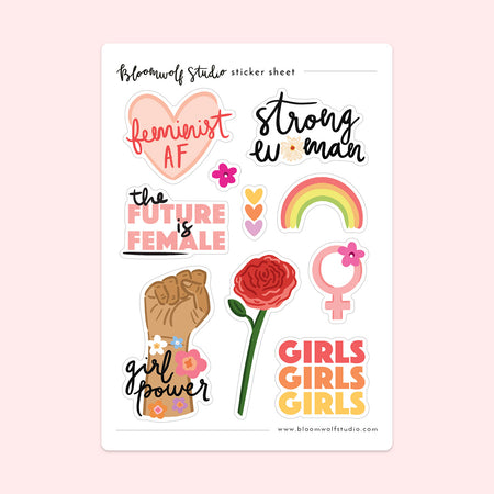Girl Power Sticker Sheet
