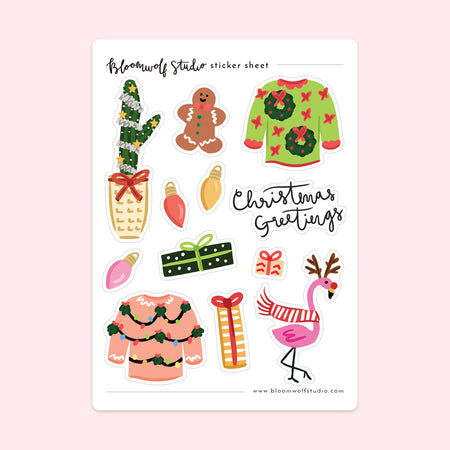Christmas Greetings Sticker Sheet