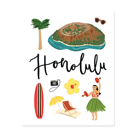 City Art Prints - Honolulu