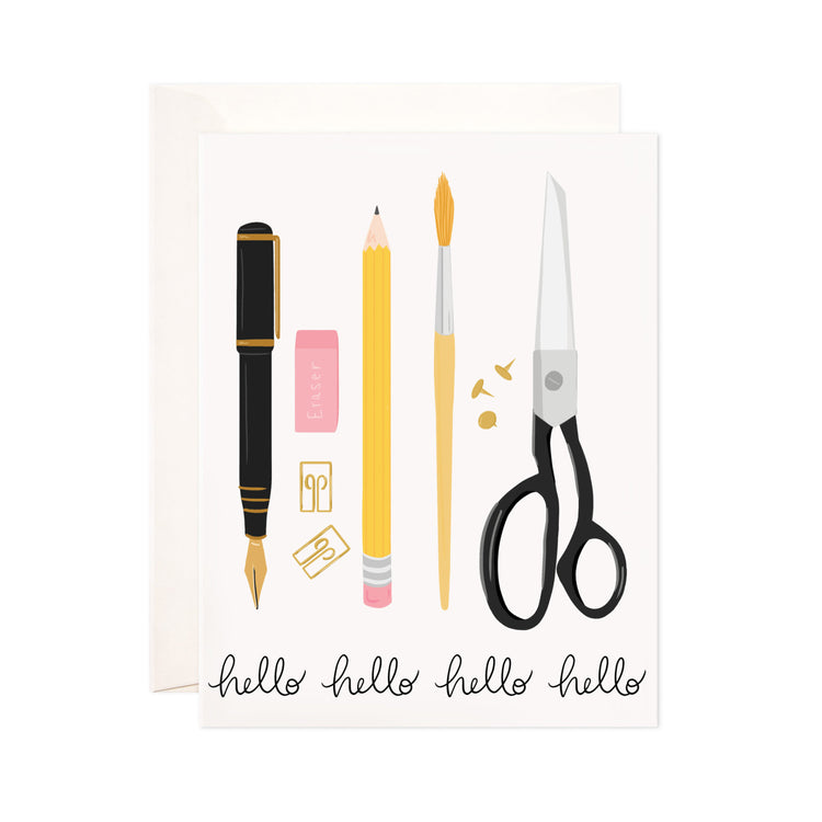 Stationery Hello - Bloomwolf Studio