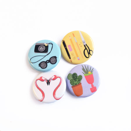 Flamingo Button Pack - Bloomwolf Studio