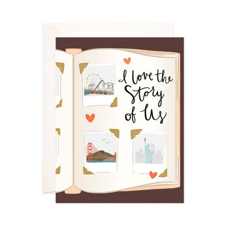 Story of Us - Bloomwolf Studio Card That Says I Love the Story of Us, Photo Album, Neutral Colors