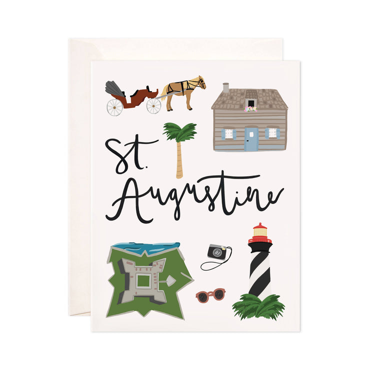 St. Augustine - Bloomwolf Studio Card About St. Augustine, Things to Do, Bright Colors, State Landmarks + Historical Places + Notable Places